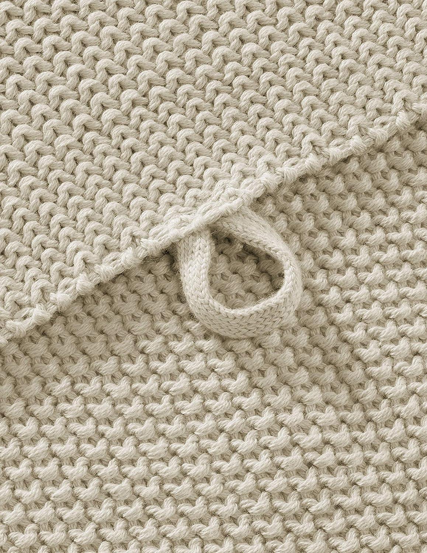 kbA Dunkelgrau Melange 50 x 70 cm Bio Handtuch Perl-Strick-Qualit/ät aus 100/% Bio-Baumwolle GOTS zertifiziert