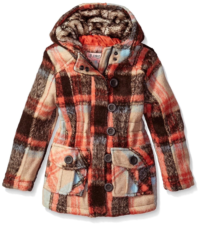 Urban Republic Toddler Ur Girls Wool Jacket, Brown 1, 2T