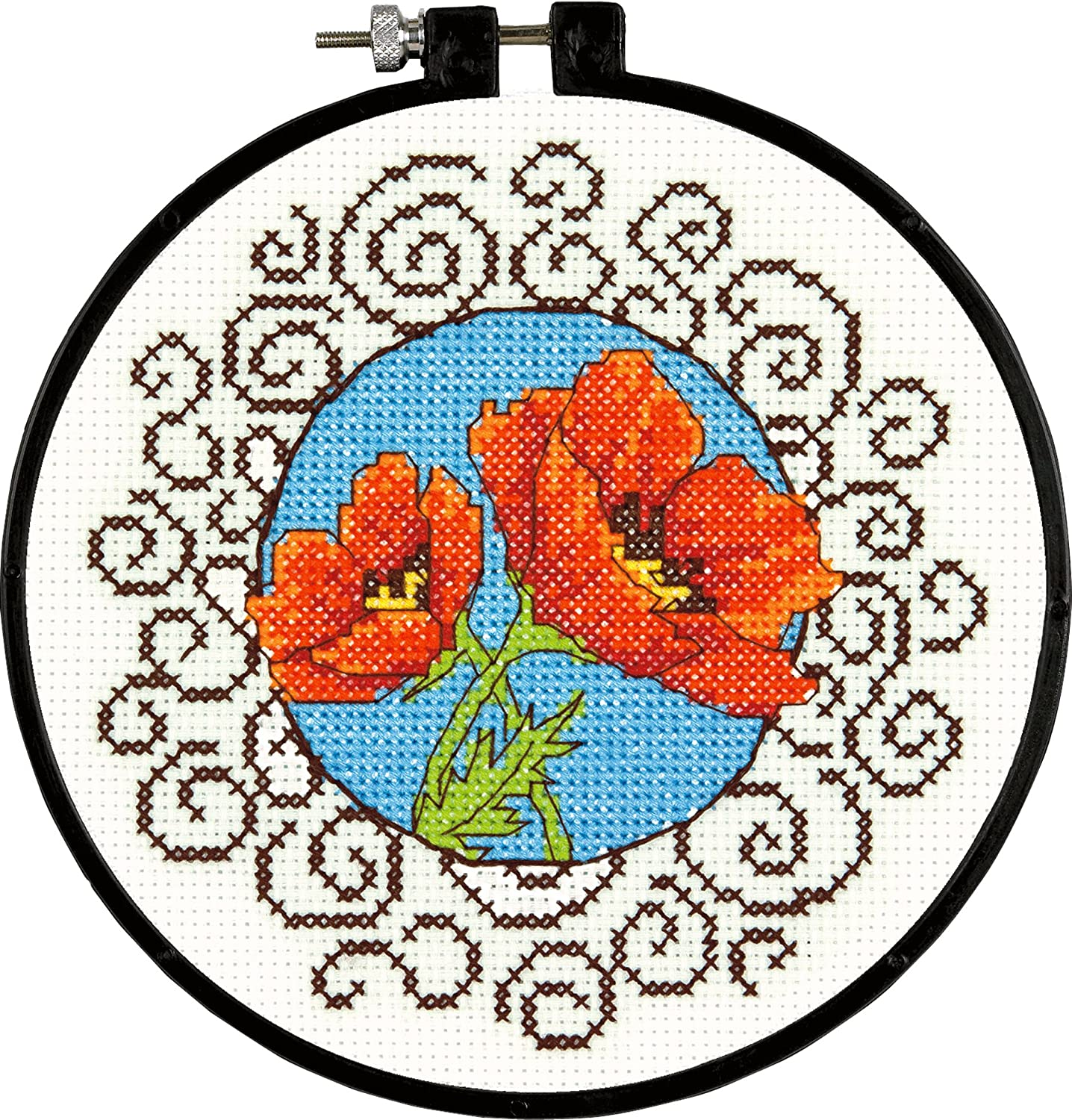 Dimensions Crafts NeedleCrafts Counted Cross Stitch, Poppies EKS 72-73825