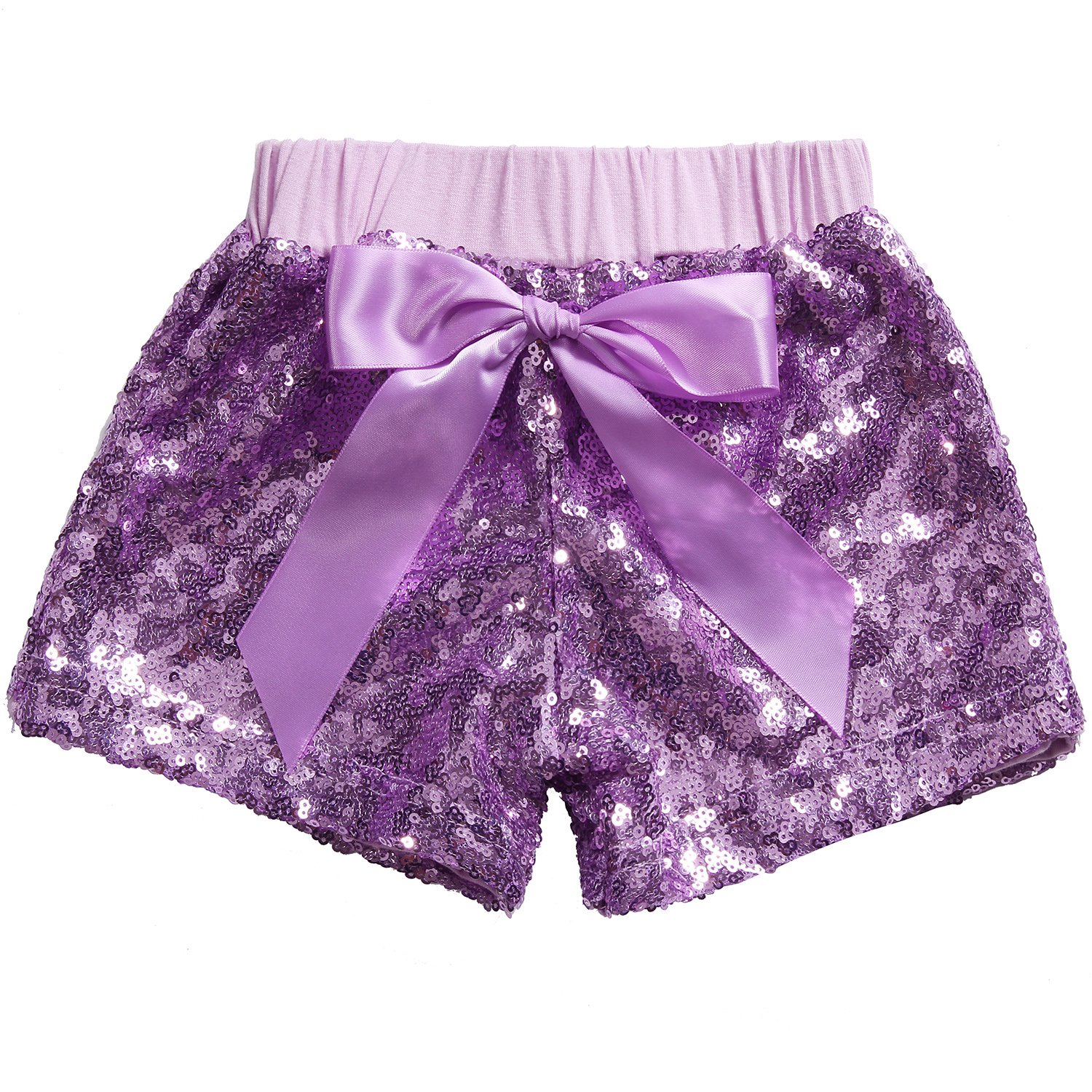 71a4dfc4c Cilucu Girls Shorts Toddler Sequin Shorts Sparkles on Both Sides Purple 6T