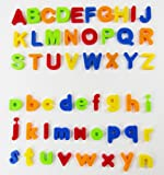 80 PCS Magnetic Learning Letters Numbers,VicPow Educational Toddlers Toys for Preschool Learning,Spelling,Counting