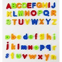 VicPow 80 Pièces Lettres et Numéros d'apprentissage magnétiques, Jouets éducatifs pour Petits Enfants pour l'apprentissage Préscolaire, l'orthographe, Le comptage