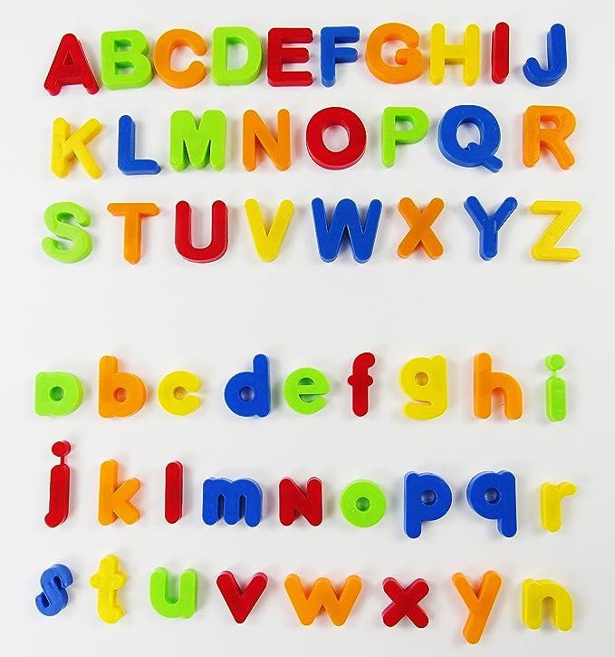 VicPow Letras y números magnéticos, 80 Piezas, Multicolor (D24)