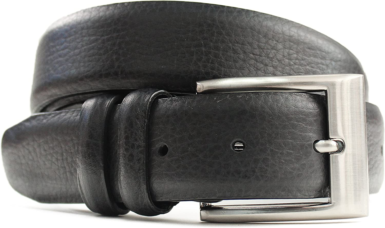 Marco LTD Mens Pebble Leather Dress Belt 2904-BLK