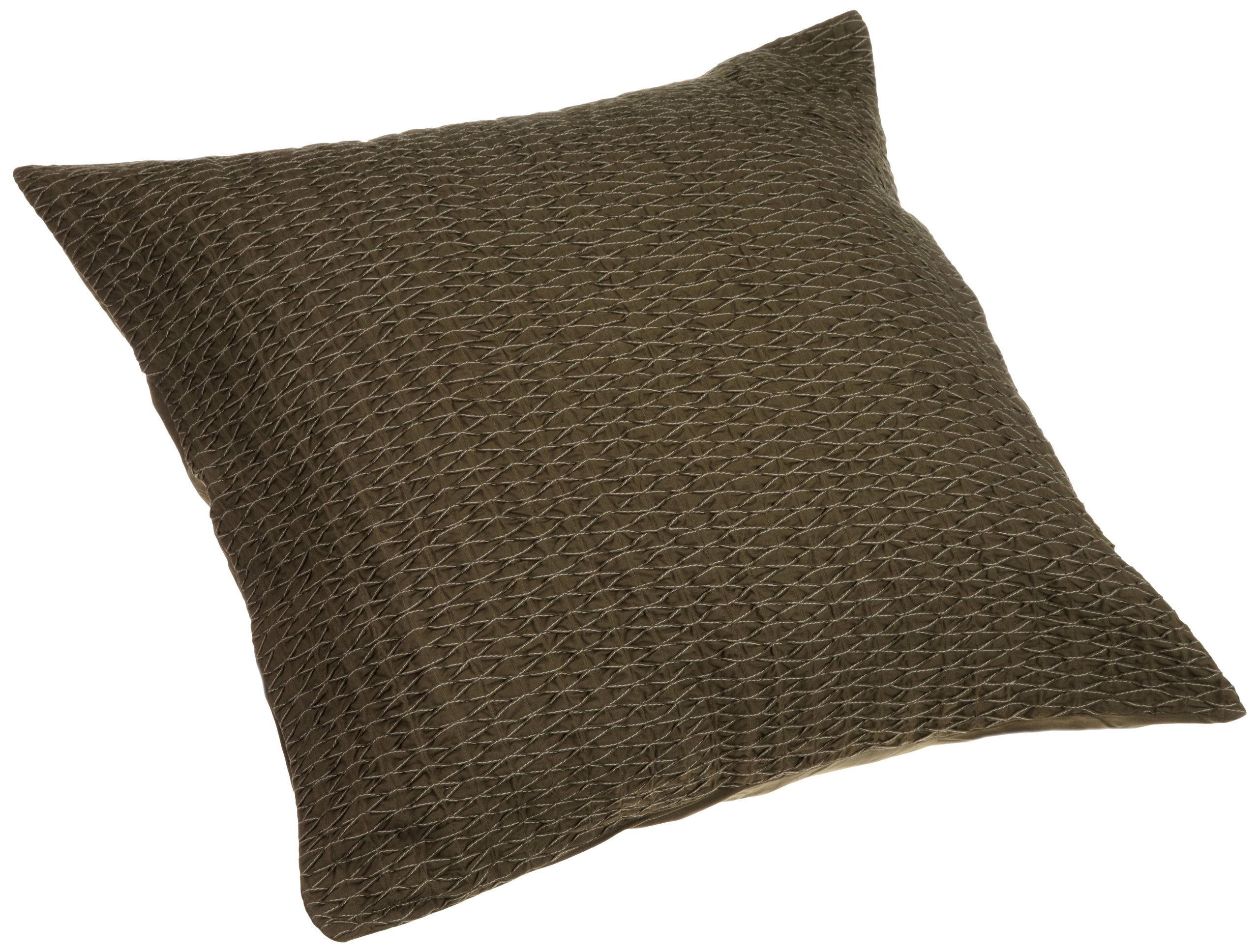 Calvin Klein Home Fold Over Pleat Euro Sham, Wood