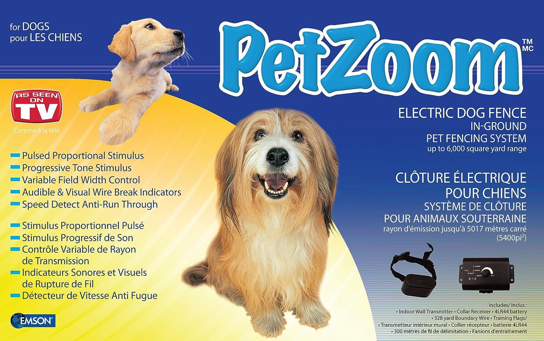 Amazon.com : PetZoom Electric Dog Fence : Petzoom : Wireless Pet ...