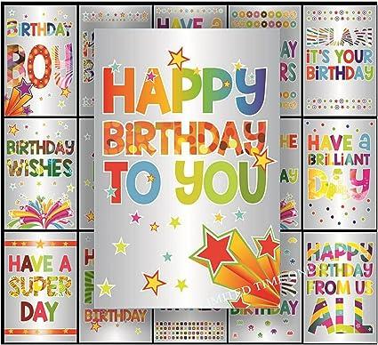 Pack de tarjetas de cumpleaños (papel de plata, 16 unidades): Amazon.es: Oficina y papelería