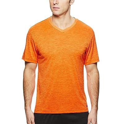 HEAD Men's Flash V Neck Gym Training & Workout T-Shirt - Short Sleeve Activewear Top