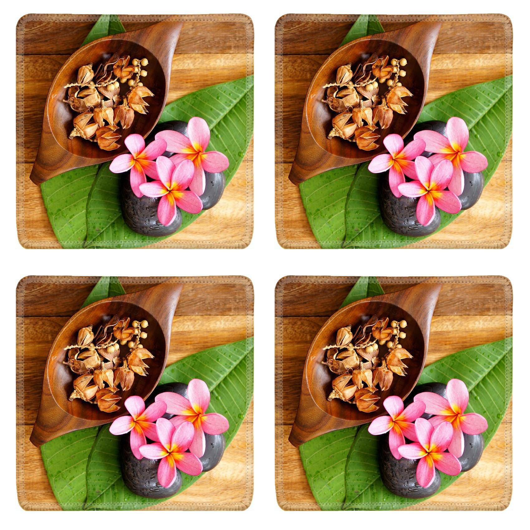 MSD Square Coasters Non-Slip Natural Rubber Desk Coasters design 23338379 Spa and Wellness concept