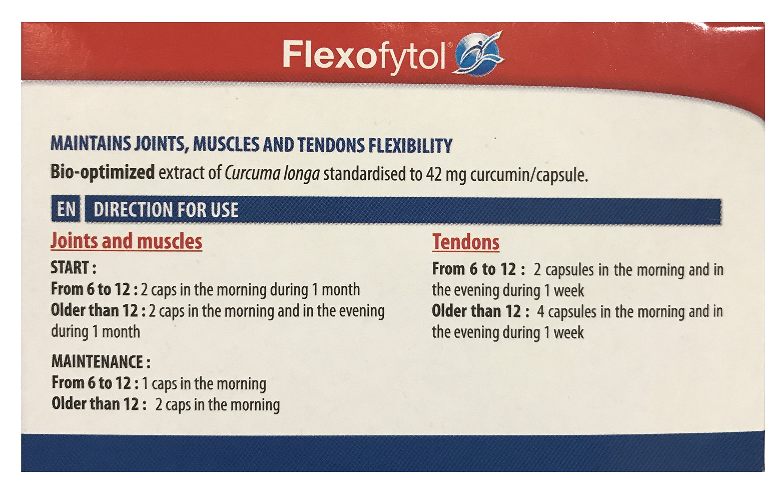 Flexofytol Bio-optimized Turmeric Extract for Joints and Arthritis  - 180 Gel-Caps