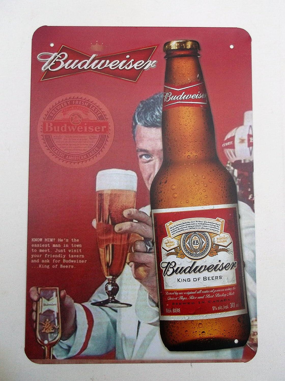 Budweiser diseño 7 placa de lata Metal Sign Cartel de garaje ...