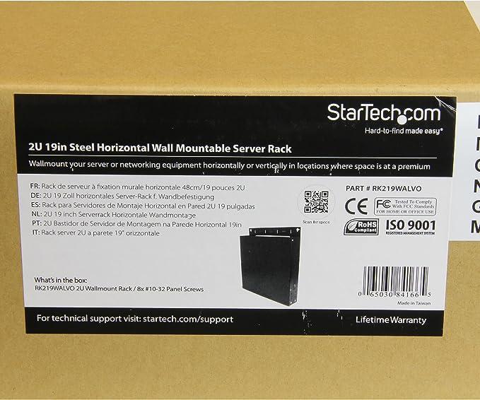 ghdonat.com Startech RK219WALVO 2U Horizontal Server Rack Studio ...
