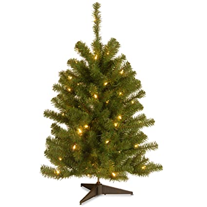 3 foot christmas tree with lights tabletop christmas national tree foot eastern spruce with 50 clear lights es30lo amazoncom