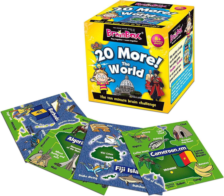 Brain Box - 20 More! The World, Juego de Memoria en inglés (31690051): Amazon.es: Juguetes y juegos