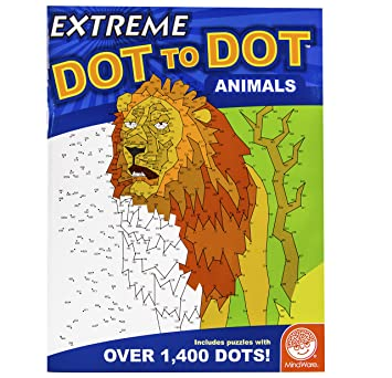 Amazon.com: MindWare Extreme Dot to Dot Animals Book Puzzles Range ...
