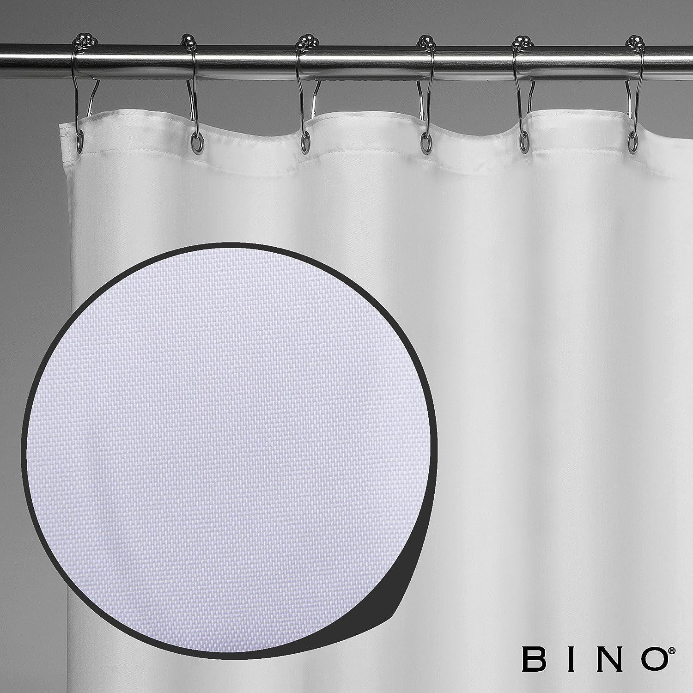 Mildew Resistant Shower Curtains for Bathroom Shower Curtains Bathroom Curtain 30309-WHT-P1 White Shower Curtain Fabric 70 x 72 BINO Pearl Fabric Shower Curtain