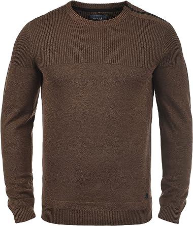 BLEND Franklin Jersey De Punto Suéter para Hombre con Cuello ...