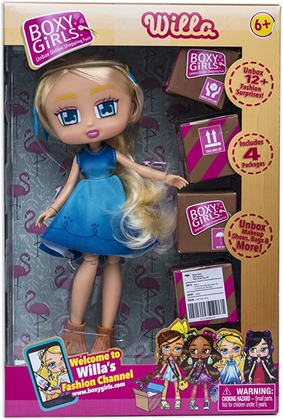 Boxy Girls Boxy Doll Willow Jay @ Play Includes One Shipping Box to Unbox New