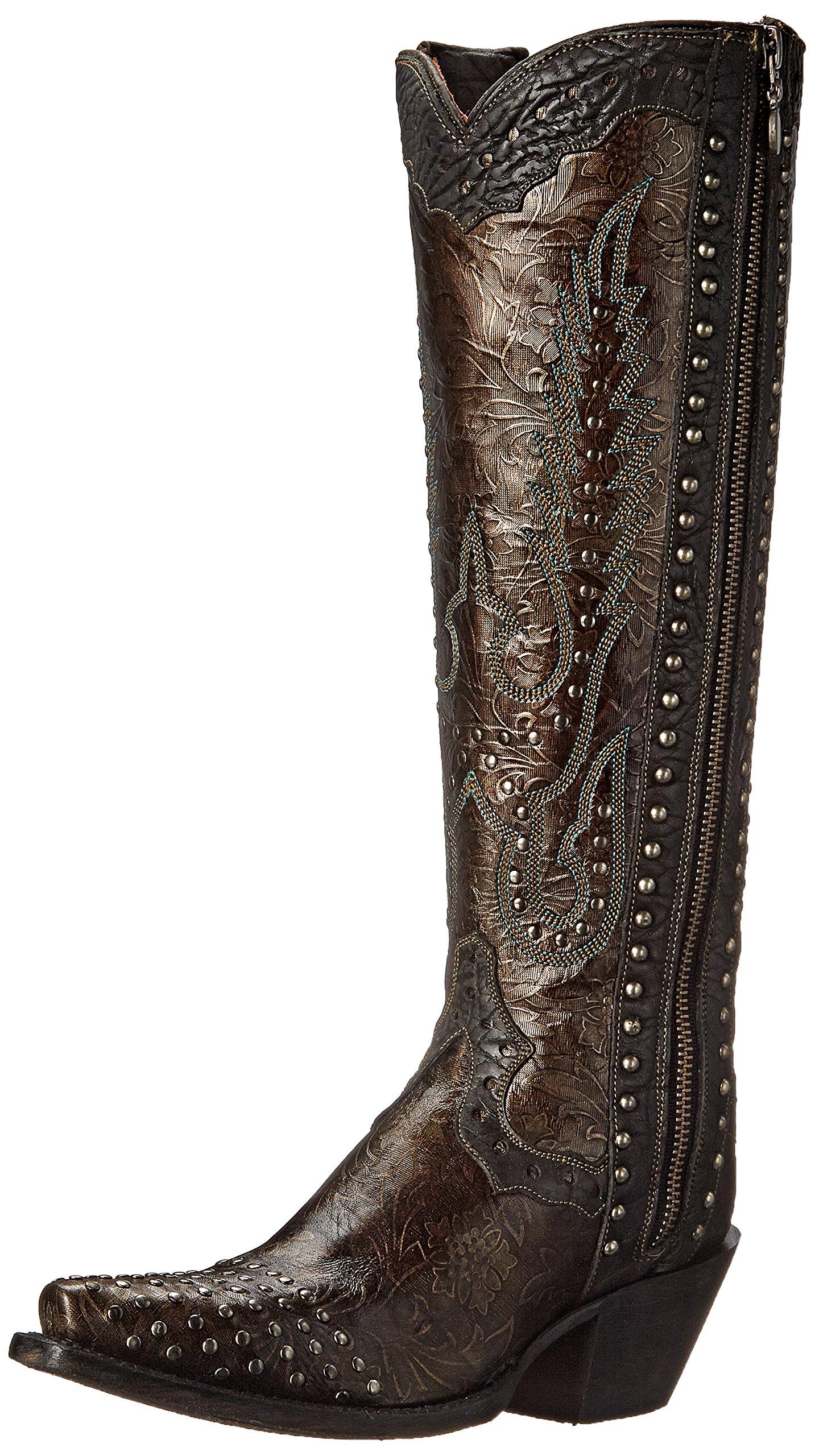 Dan Post Women's Tempted Western Boot, Dark Taupe, 9.5 M US