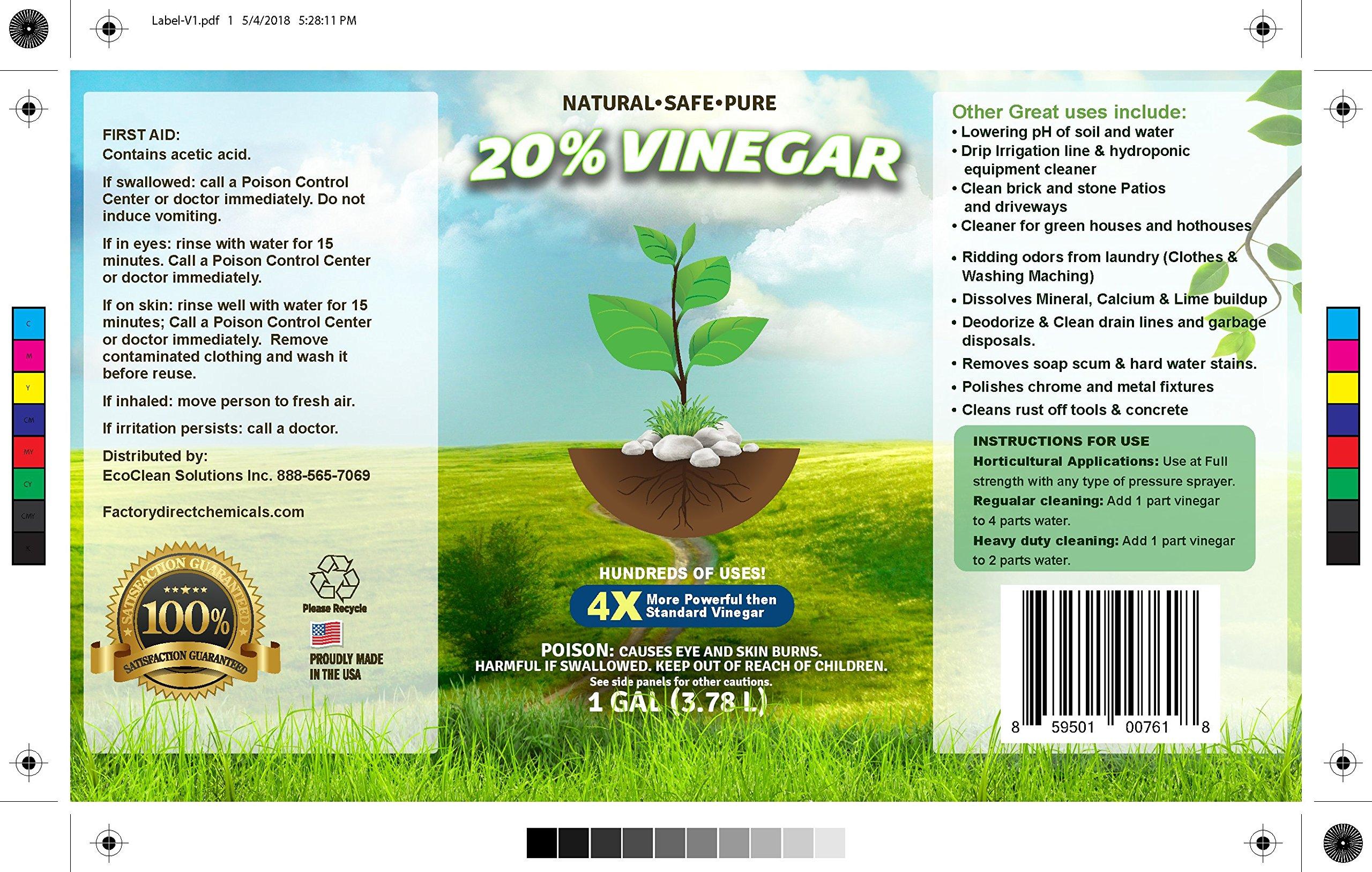 20% Vinegar | Industrial Strength Natural Vinegar | Multi Purpose - 5 Gallon Pail by Green Gobbler (Image #2)