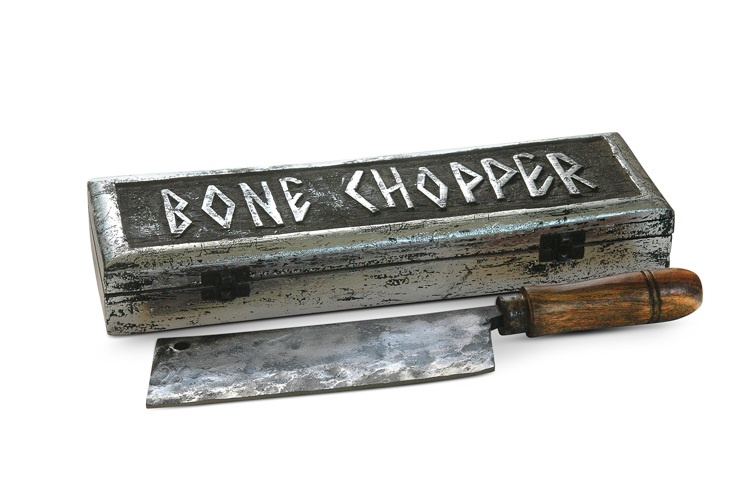 A Tribute to the Art of Blacksmithing - Artisan handmade heavy duty blade barbecue bone chopper to process pig, sheep and goat, meat cleaver, pizza cutter. Works like an axe.