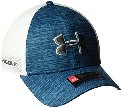 Amazon.com  Under Armour Men s Golf Mesh Stretch 2.0 Cap  Sports ... a1c2ee4800ad