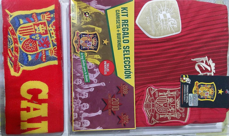 española Kit seleccion Camiseta + Bufanda (10): Amazon.es: Deportes y aire libre