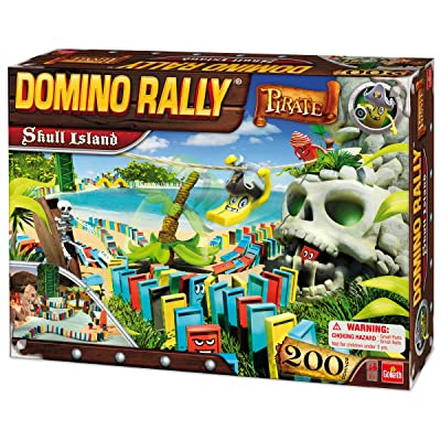 Goliath Domino Rally Pirate Skull Island: Toys & Games