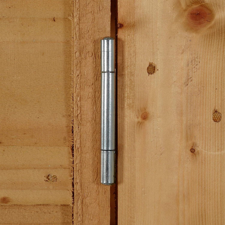 trattato a Pressione capanno di Sicurezza per Giardino con apice a Listelli sovrapposti 6 x 4 Forest