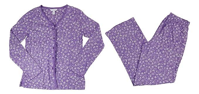 590496b9fe16 Charter Club 100% Cotton Print Pajama Set (Dragonfly Floral, XXX-Large)
