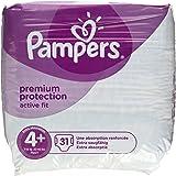 Pampers Premium Protection Active Fit Couches Taille 4+ Maxi Plus ( 9-18 kg ), paquet geant Jumbo Plus, 1 paquet ( 1 x 62 pieces )