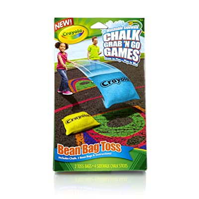 Crayola Bean Bag Toss Chalk Grab and Go Games: Toys & Games