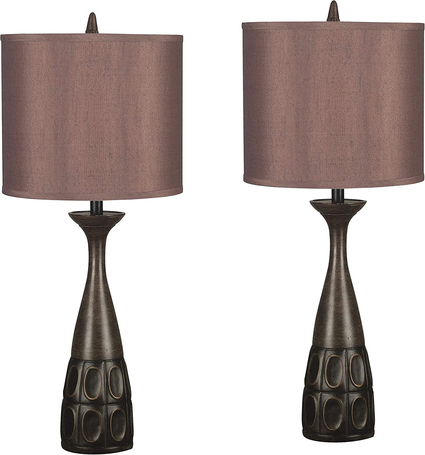 Kenroy Home 21072MBRZ Jules 2 Pack Table lamp, Mahogany Bronze Finish