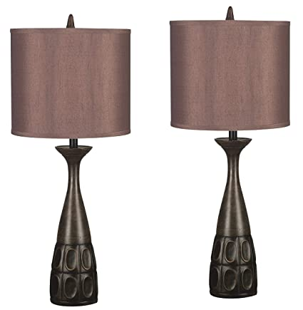 Kenroy Home 21072MBRZ Jules 2 pack table lamp Mahogany Bronze Finish