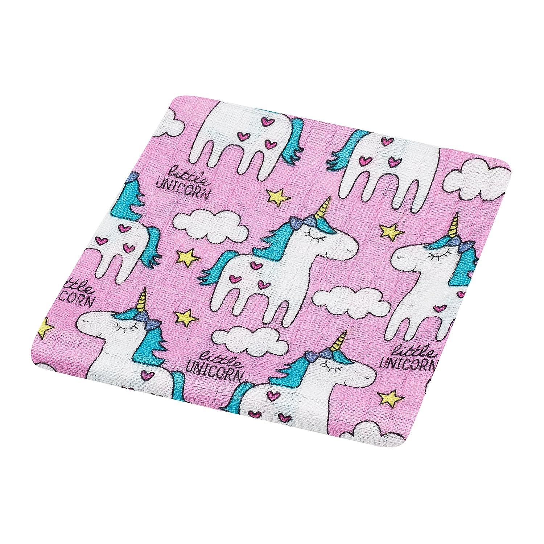 2 cuadrados de muselina para bebé, 100% algodón, 80 x 70 cm, certificado seguro para los niños, uso múltiple: manta, envoltorio, pañal, cubierta, ...