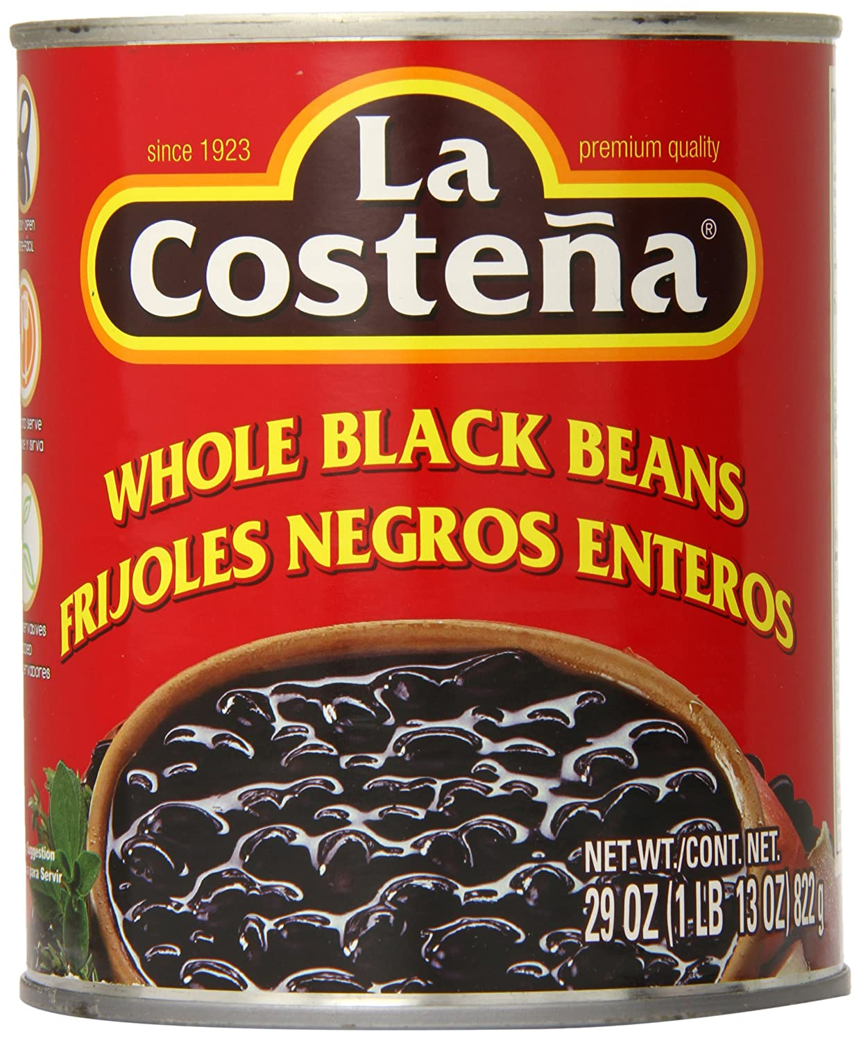 Amazon.com : La Costena Whole Black Beans, 29 Ounce (Pack of 12) : Grocery & Gourmet Food