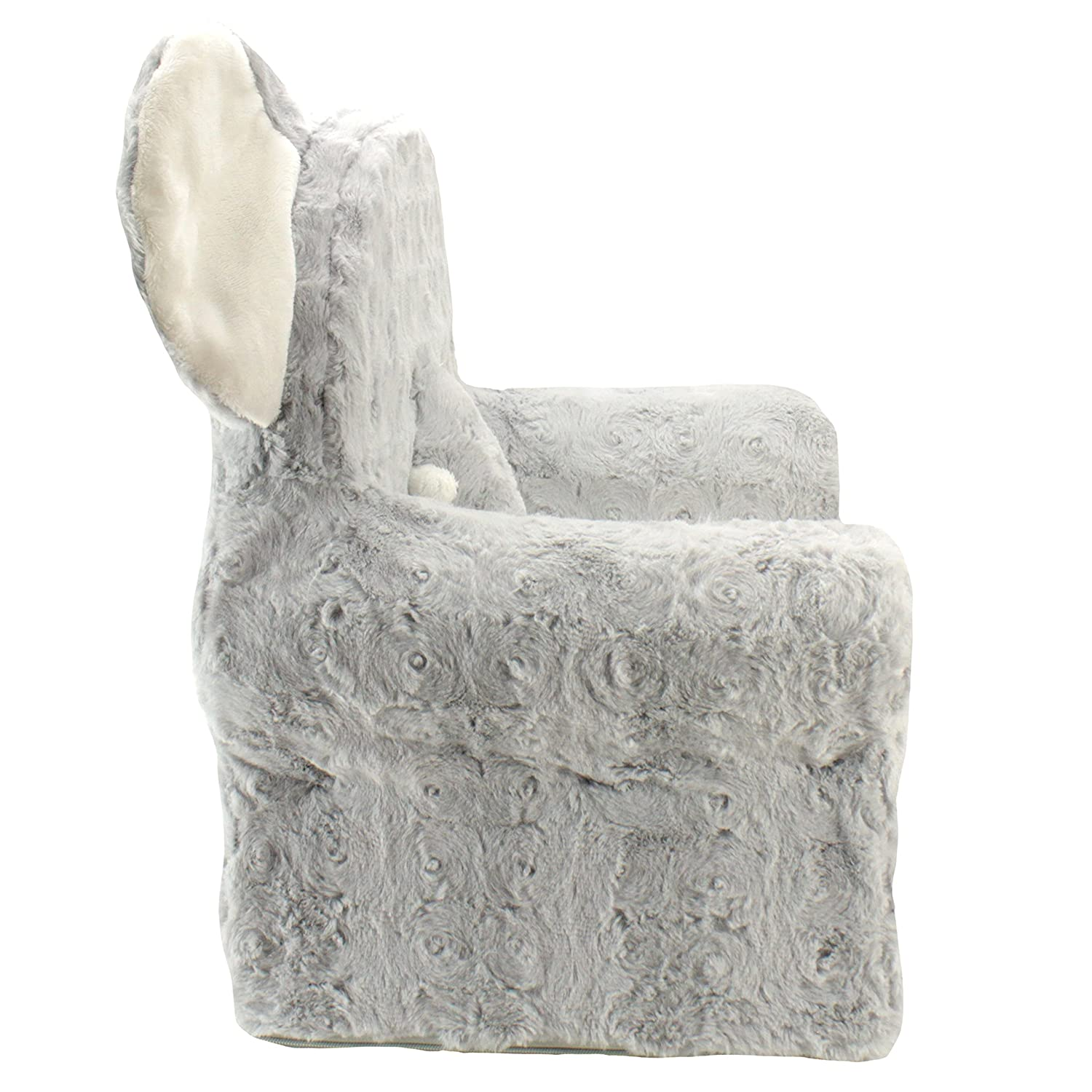 Sweet Seats | Grey Elephant Childrens Chair | Large Size | Machine Washable Cover