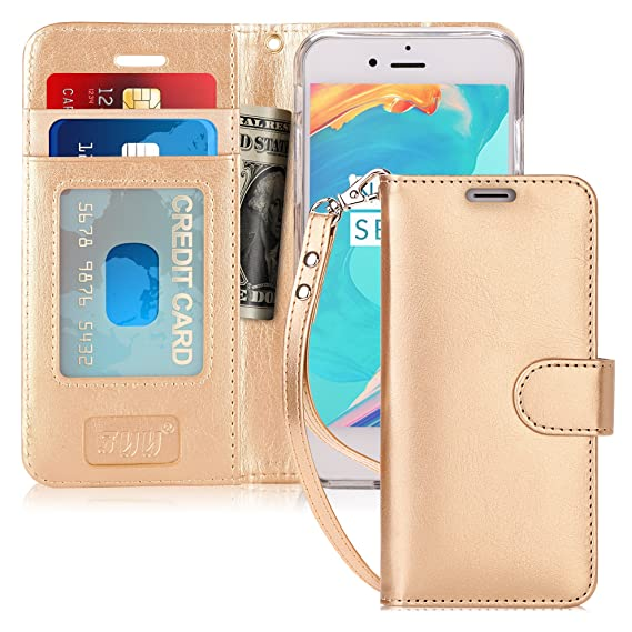 new arrivals 0d737 bc699 FYY Top-Notch Series Wallet Case for Apple iPhone 6 / 6S, Gold