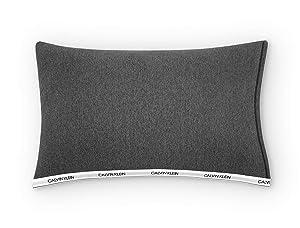 Calvin Klein Home Classic Logo Heather Charcoal Pillowcase, King PCP