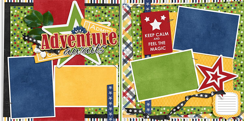 Adventure Awaits NPM EZ Layout 3185 Premade Scrapbook Pages