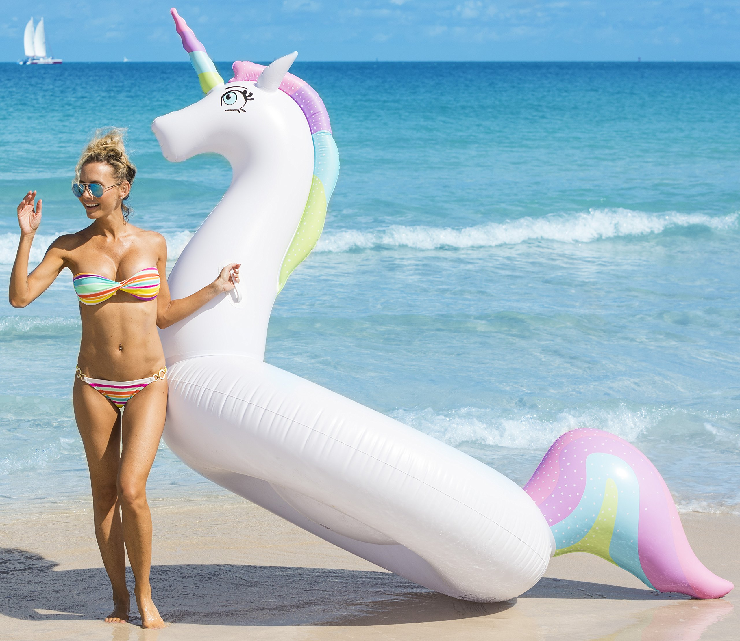 Coconut Float; Rainbow Unicorn 8.5 Ft. Float 5