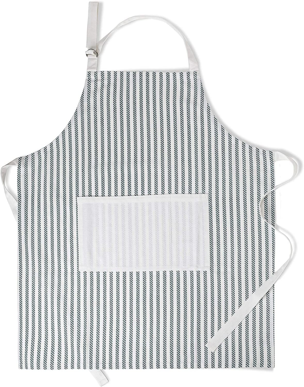 Folkulture Aprons for Women, Kitchen Apron or Chef Apron, 100% Cotton Aprons for Men with an Adjustable Neck Strap and Center Pockets for Cooking or Baking, 27.5