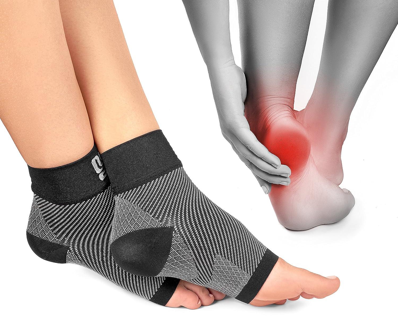Calcetín de compresión gradual para reducir la fascitis la planta del pie