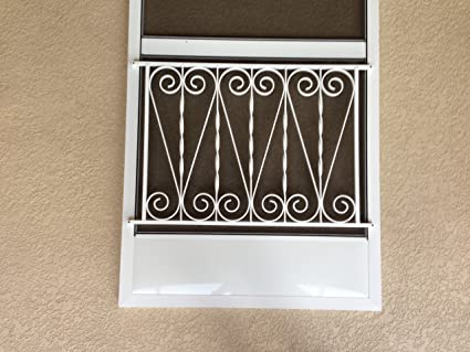 Superieur Vintage Inspired Screen Door Grille, Screen Door Pet Guard, (White),  Aluminum