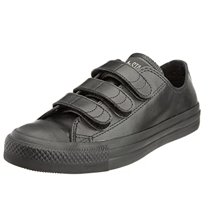 8b63b7abc630 Converse Youth Chuck Taylor AS Leather Velco OX Lace-Up Black Charcoal  215612 3
