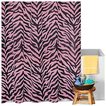 Karin Maki Zebra Shower Curtain Pink