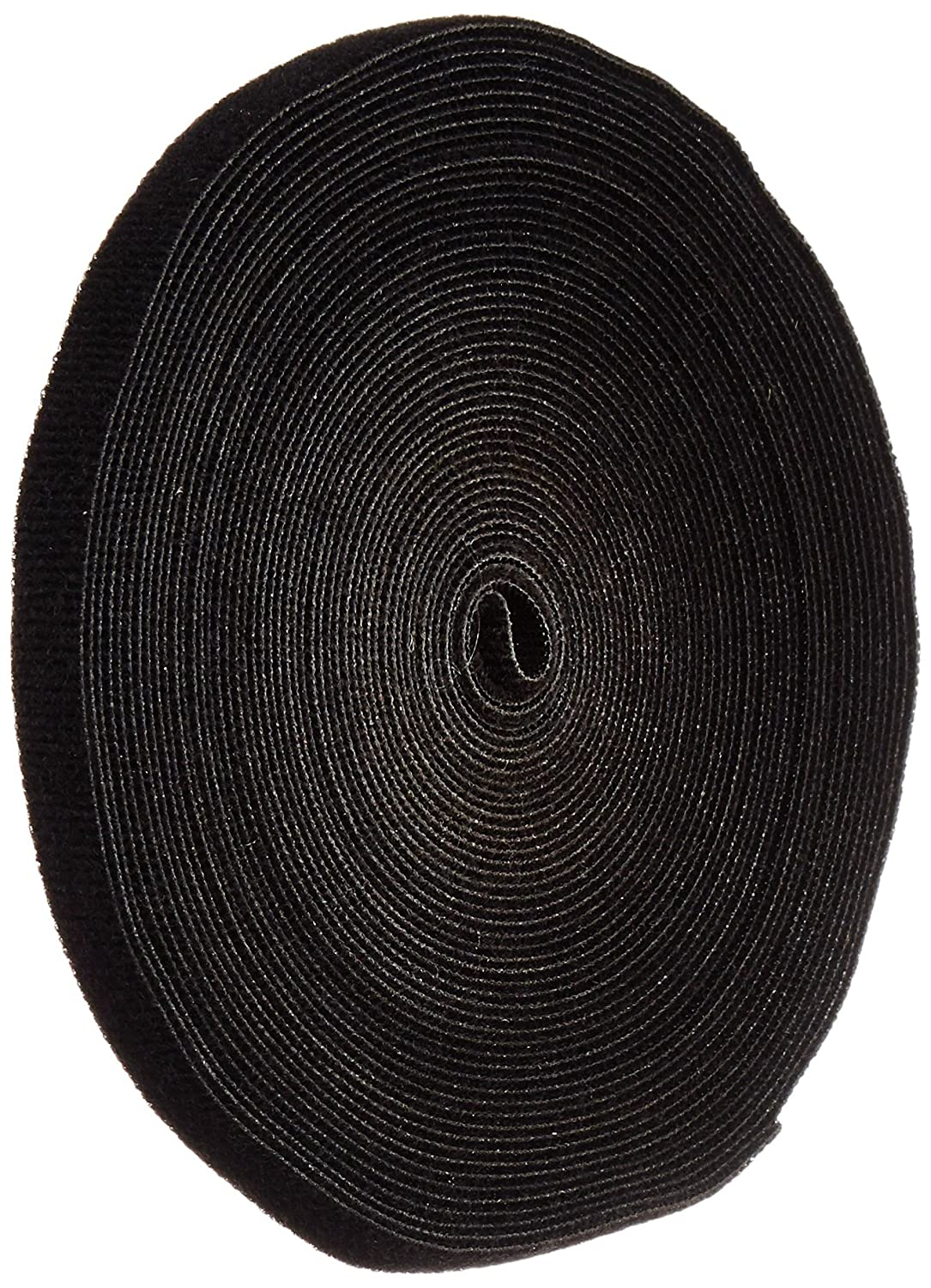 VELCRO 1801-OW-PB/B Black Nylon Onewrap Velcro Strap, Hook and Loop, 1/2' Wide, 50' Length 1/2 Wide 50' Length CS Hyde Company Inc 1801-OW-PB/B-50
