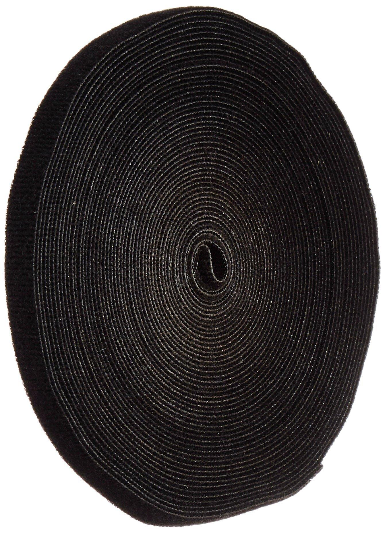 VELCRO 1801-OW-PB/B Black Nylon Onewrap Velcro Strap, Hook and Loop, 1/2'' Wide, 50' Length