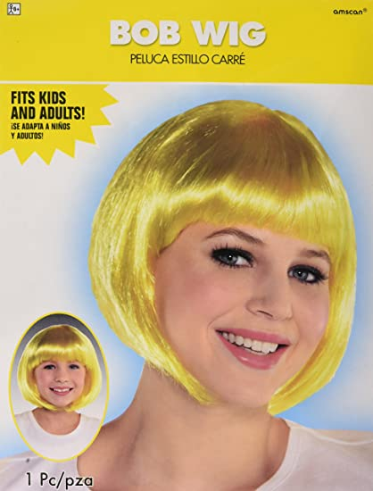 Amazon.com: amscan Yellow Bob Party Wig Costumes, 6 Ct ...