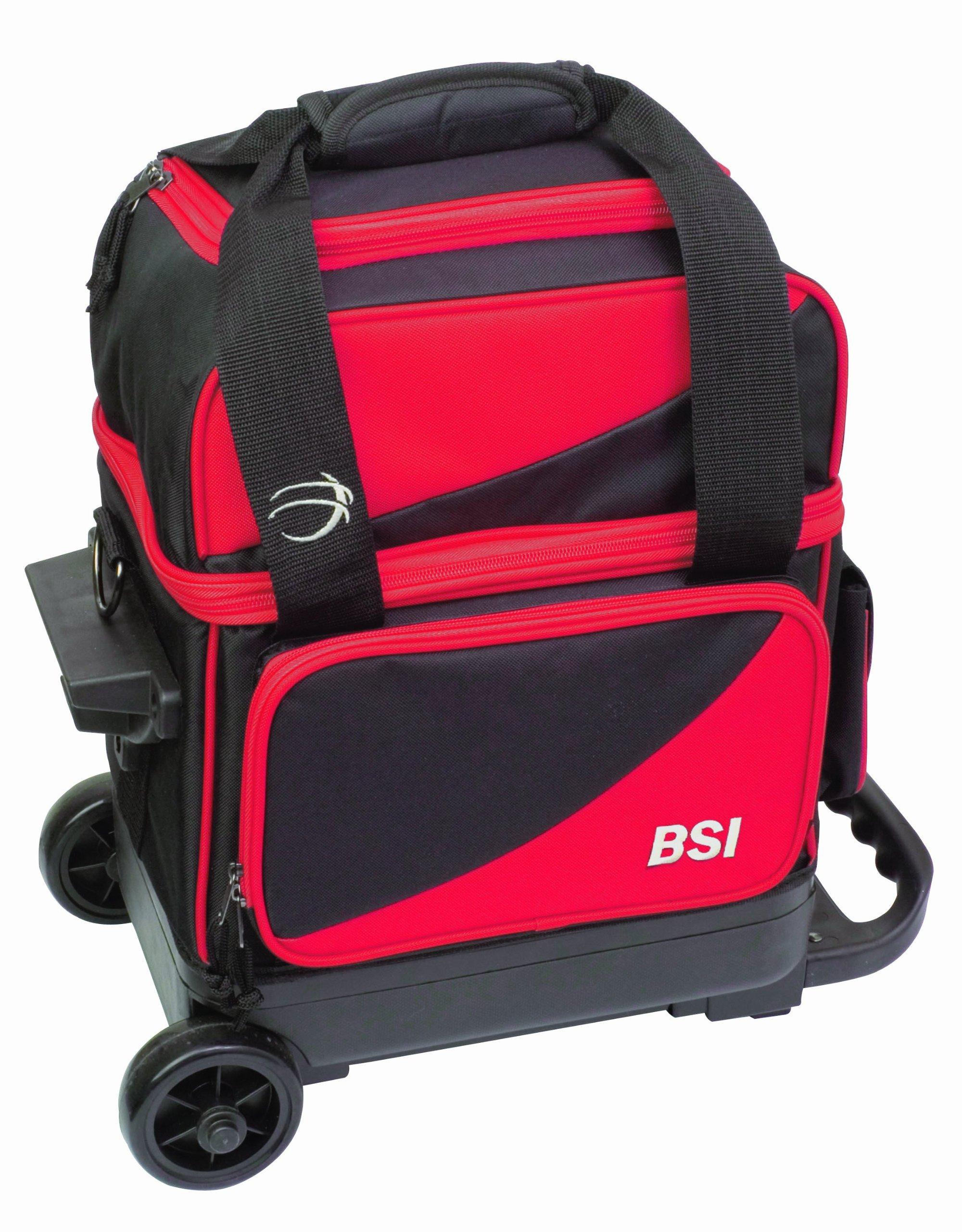 BSI Single Ball Roller Bowling Bag, Black/Red